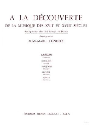 A La Découverte Volume 3 Partition Saxophone - laflutedepan