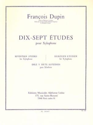17 Etudes François Dupin Partition Xylophone - laflutedepan