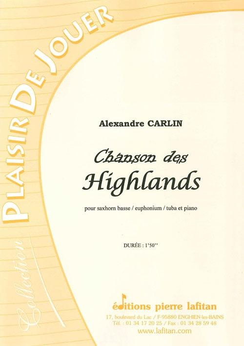 Chanson des Highlands - Alexandre Carlin - laflutedepan.com