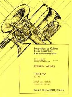 Trio N° 2 Opus 85 Stanley Weiner Partition laflutedepan