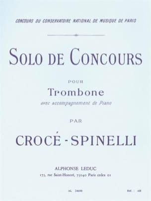 Solo de Concours Crocé-Spinelli Partition Trombone - laflutedepan