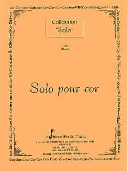 Solo Pour Cor Eric Hulin Partition Cor - laflutedepan
