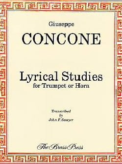 Lyrical Studies Giuseppe Concone Partition Trompette - laflutedepan