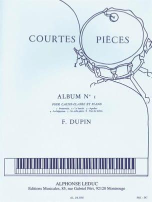 Courtes Pièces Album N° 1 François Dupin Partition laflutedepan