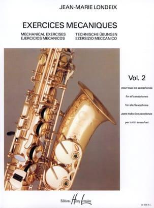 Exercices Mécaniques Volume 2 Jean-Marie Londeix laflutedepan