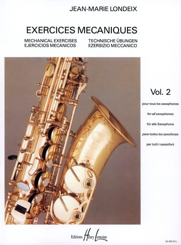 Exercices Mécaniques Volume 2 - Jean-Marie Londeix - laflutedepan.com