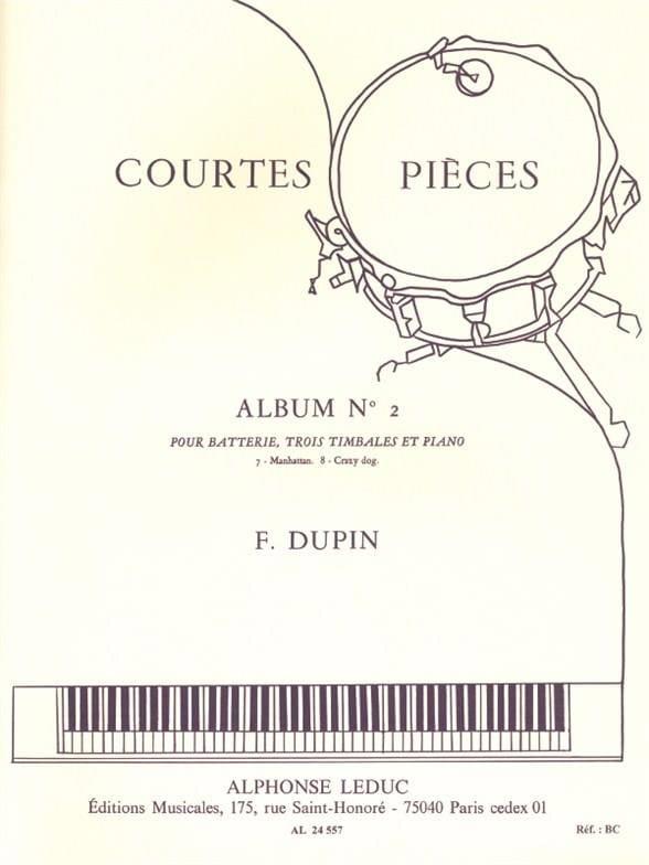 Courtes Pièces Album N° 2 - François Dupin - laflutedepan.com
