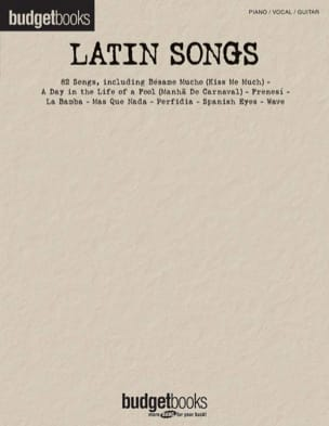 Budget books - Latin songs Partition Musique du monde - laflutedepan