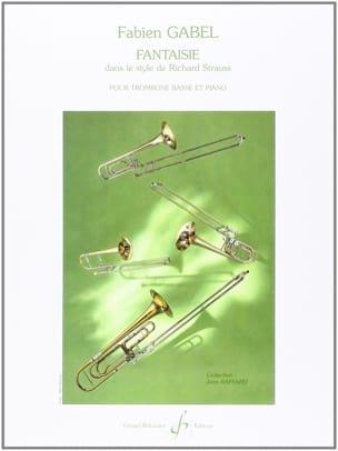 Fantaisie Fabien Gabel Partition Trombone - laflutedepan