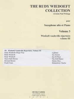 The Rudy Wiedoeft Collection Volume 03 Rudy Wiedoeft laflutedepan