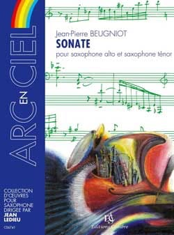 Sonate Jean-Pierre Beugniot Partition Saxophone - laflutedepan