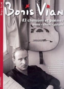 83 Chansons et poèmes Boris Vian Partition laflutedepan
