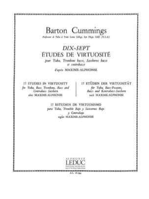 17 Etudes de Virtuosité Barton Cummings Partition Tuba - laflutedepan