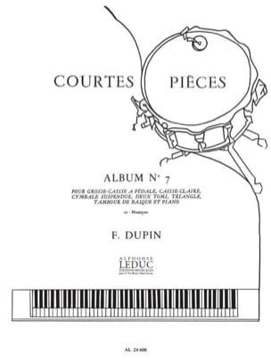 Courtes Pièces Album N° 7 François Dupin Partition laflutedepan