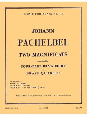2 Magnificats PACHELBEL Partition Ensemble de cuivres - laflutedepan