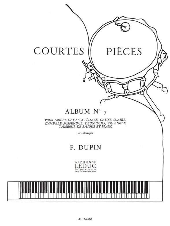 Courtes Pièces Album N° 7 - François Dupin - laflutedepan.com