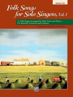 Folk Songs for Solo Singers - Volume 1 - laflutedepan.com