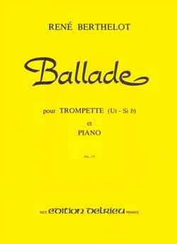 Ballade René Berthelot Partition Trompette - laflutedepan