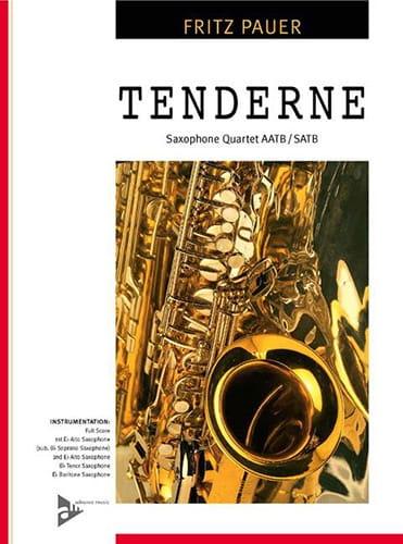 Tenderness - Fritz Pauer - Partition - Saxophone - laflutedepan.com