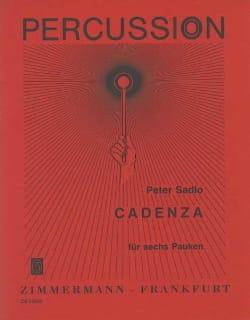 Cadenza Peter Sadlo Partition Timbales - laflutedepan