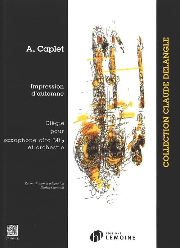 Impressions D'automne - André Caplet - Partition - laflutedepan.com