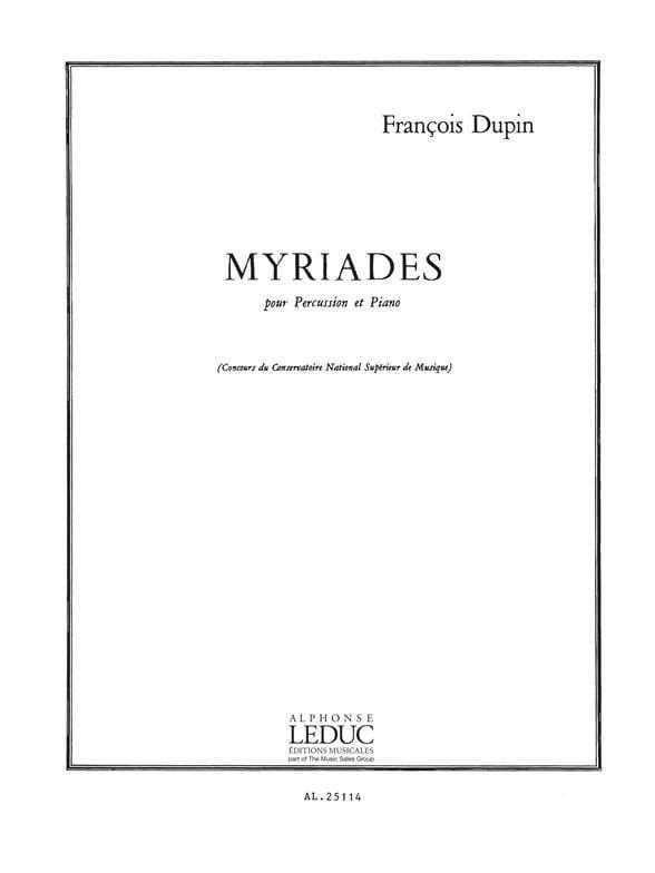 Myriades - François Dupin - Partition - laflutedepan.com