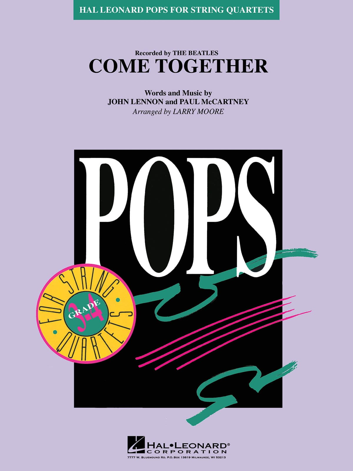 Come Together - Pops For String Quartets - BEATLES - laflutedepan.com
