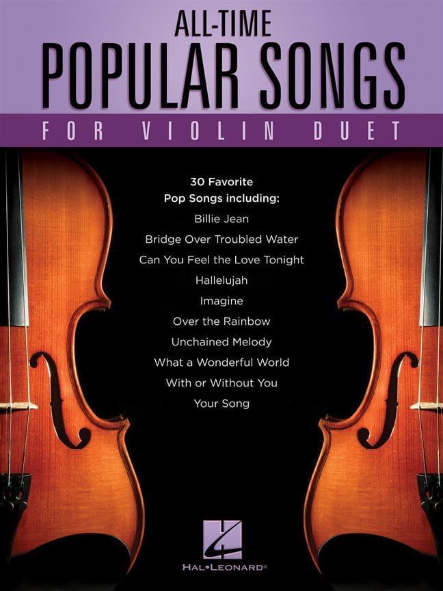 All-Time Popular Songs - 2 Violons - Partition - laflutedepan.com