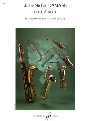 Note A Note Jean-Michel Damase Partition Saxophone - laflutedepan