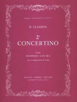 2ème Concertino CLASSENS Partition Saxophone - laflutedepan