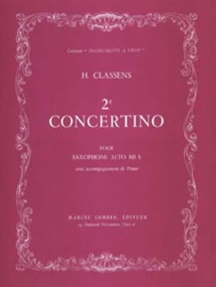 2ème Concertino - CLASSENS - Partition - Saxophone - laflutedepan.com