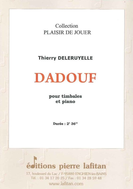 Dadouf - Thierry Deleruyelle - Partition - Timbales - laflutedepan.com