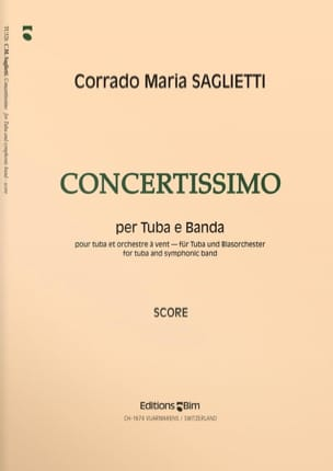 Concertissimo Corrado Maria Saglietti Partition Tuba - laflutedepan