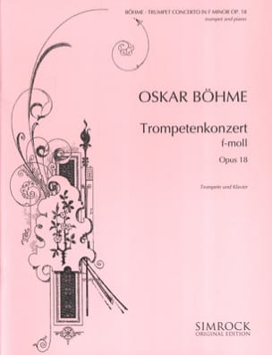 Konzert F-Moll Opus 18 Oskar Böhme Partition Trompette - laflutedepan