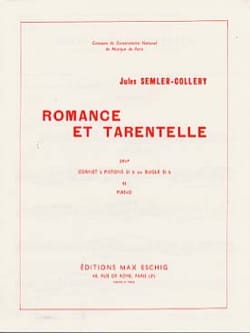 Romance Et Tarentelle Jules Semler-Collery Partition laflutedepan