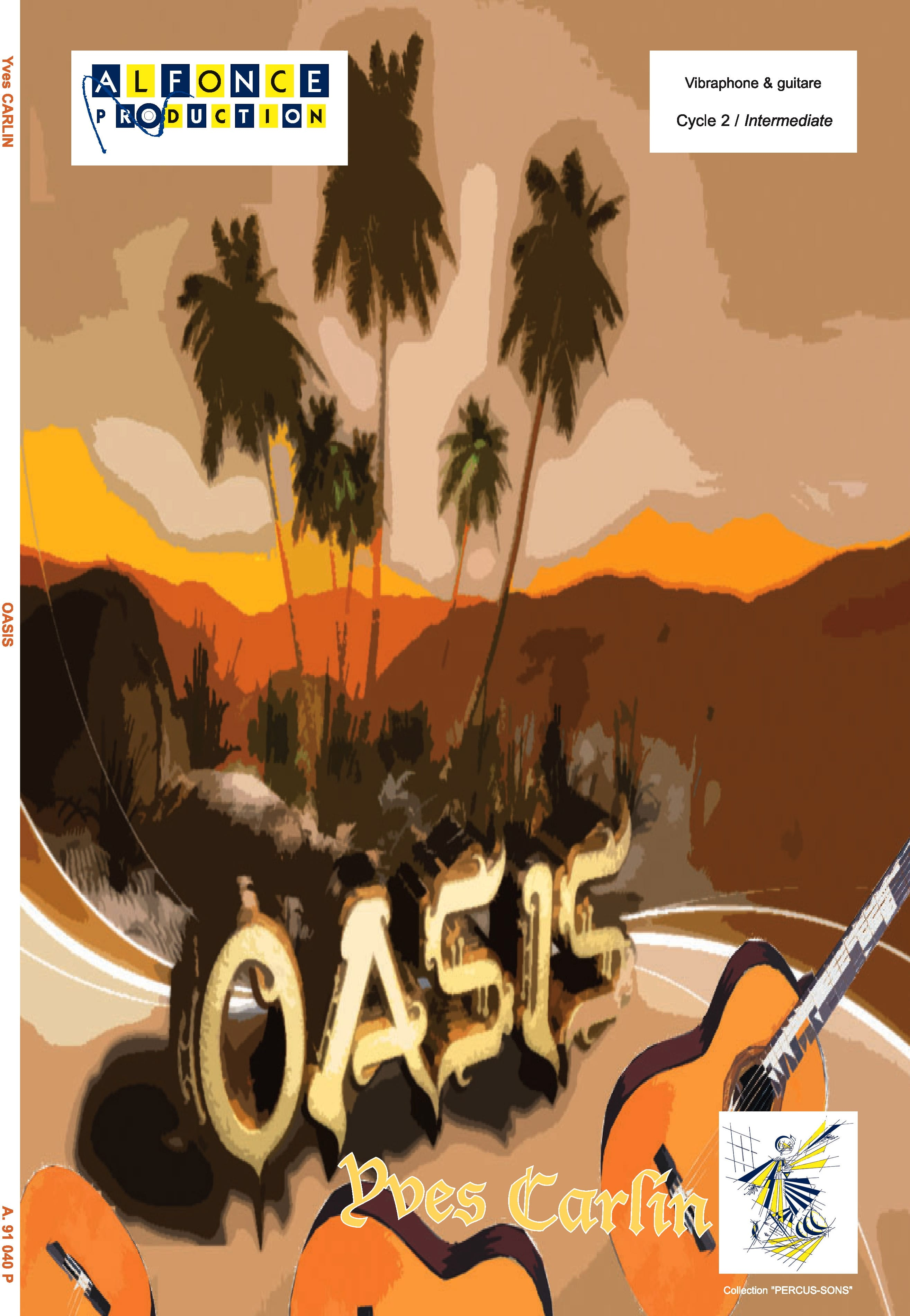 Oasis - Yves Carlin - Partition - Vibraphone - laflutedepan.com