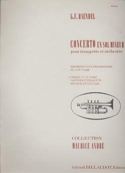 Concerto En Sol Mineur - HAENDEL - Partition - laflutedepan.com