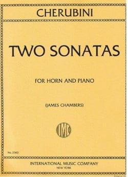 Two Sonatas CHERUBINI Partition Cor - laflutedepan