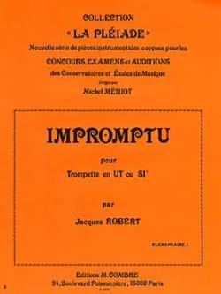 Impromptu Jacques Robert Partition Trompette - laflutedepan