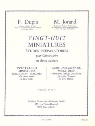 28 Miniatures - Volume 1 Dupin François / Jorand Marcel laflutedepan