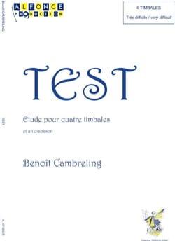 Test Benoit Cambreling Partition Timbales - laflutedepan