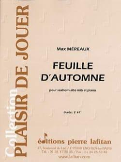 Feuille d'automne Max Méreaux Partition Tuba - laflutedepan