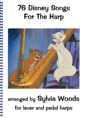 76 Chansons de Disney pour la harpe DISNEY Partition laflutedepan