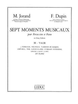 7 Moments Musicaux Volume 3 - Valse Jorand M. / Dupin F. laflutedepan