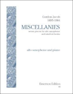 Miscellanies - Gordon Jacob - Partition - Saxophone - laflutedepan.com