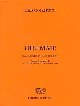 Dilemme Gérard Gastinel Partition Saxophone - laflutedepan