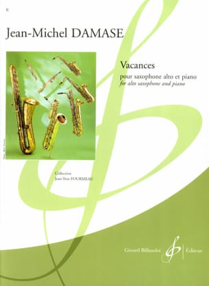 Vacances Jean-Michel Damase Partition Saxophone - laflutedepan