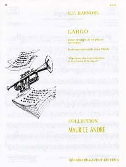 Largo HAENDEL Partition Trompette - laflutedepan