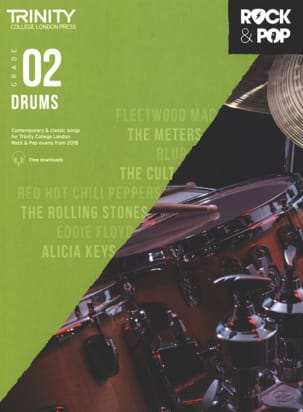 Trinity Rock and Pop 2018 - 20 Drums Grade 2 Partition laflutedepan