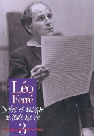 Paroles Et Musiques de Toute Une Vie Volume 3 1959-62 - laflutedepan.com